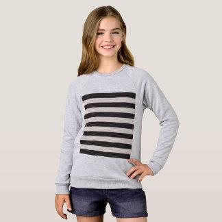 Raglanの女の子のTシャツはとの縞で飾ります スウェットシャツ
