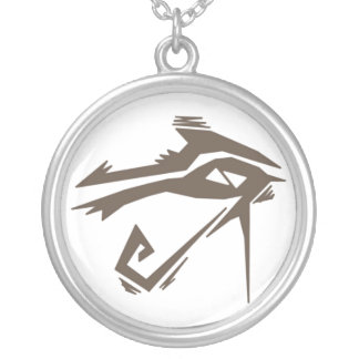 Rahの種族の目 シルバープレートネックレス