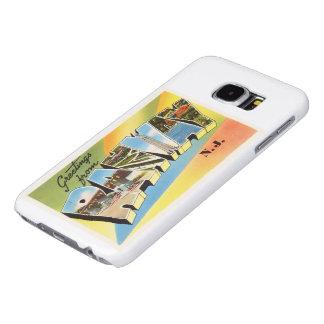 RahwayニュージャージーNJの古いヴィンテージ旅行郵便はがき Samsung Galaxy S6 ケース