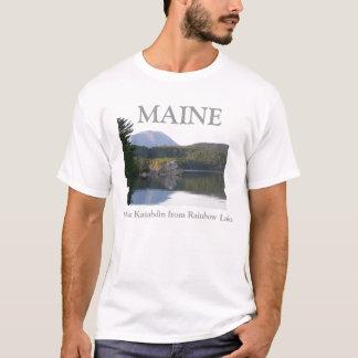 rainbow湖からの山Katahdin Tシャツ