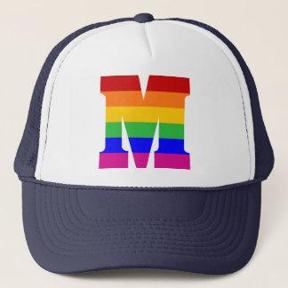 Rainbow Letter M キャップ