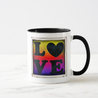 Rainbow LGBT Heart Love Button Coffee Mug マグカップ