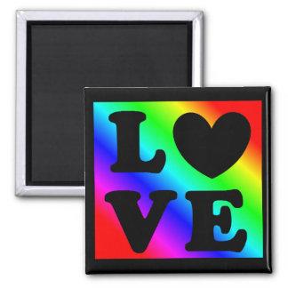 Rainbow LGBT Heart Love Magnet マグネット