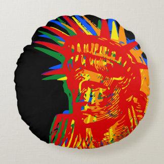 RAINBOW LIBERTY POP ART ラウンドクッション