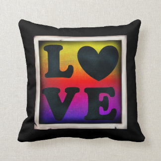 Rainbow Love Heart LGBT Pride & Support Pillow クッション