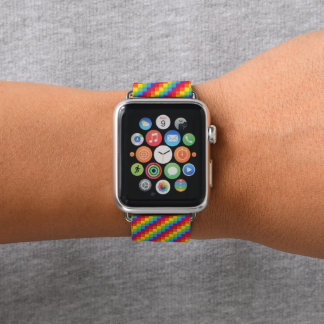 Rainbow Pixels LGBT Pride Apple Watchバンド