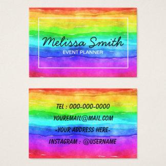 Rainbow Simple Designed Bussines Card 名刺