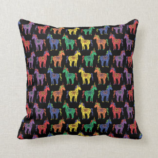 Rainbow Unicorns Colorful Throw Pillow クッション