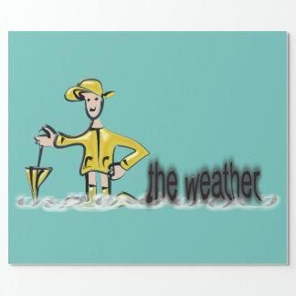rainwearの天気予報 ラッピングペーパー
