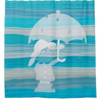 RainyDayGirlのGelArtのシャワー・カーテン シャワーカーテン