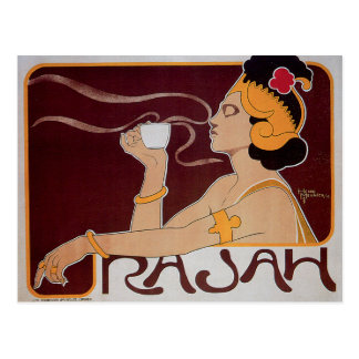 Rajahのコーヒー ポストカード