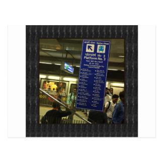 Rajiv Chowkニューデリーの地下鉄のインドの鉄道のプライド ポストカード