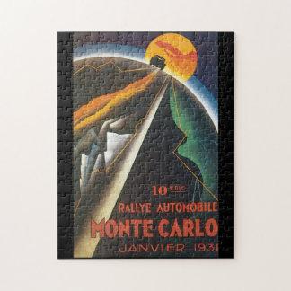 Rallyeの自動車モナコのヴィンテージ旅行ポスター ジグソーパズル