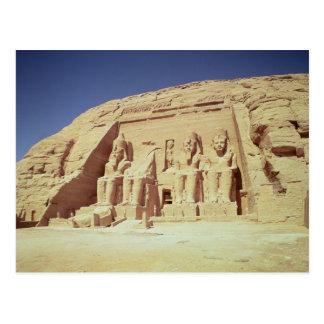 Ramesses IIの寺院の正面 ポストカード