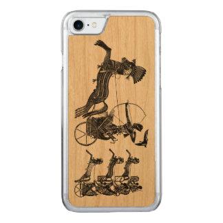 Ramesses II王の息子のヴィンテージの芸術のiPhone木 Carved iPhone 8/7 ケース