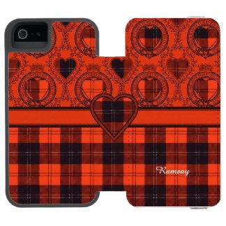 Ramsayの一族の格子縞のスコットランド人のタータンチェック iPhone SE/5/5sウォレットケース