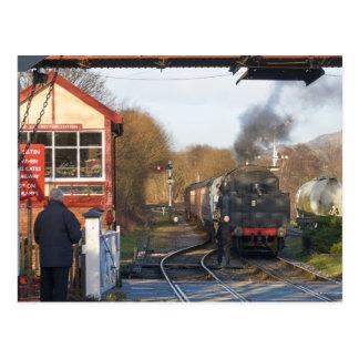 Ramsbottomの蒸気の列車 ポストカード