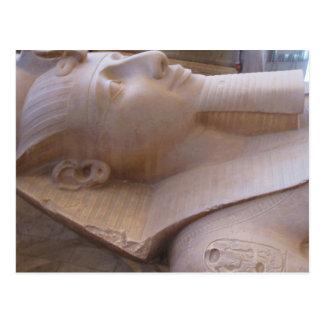 Ramses IIメンフィスの巨大な石灰岩の彫像 ポストカード