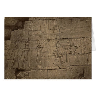 Ramusseum。 1867年頃エジプト カード