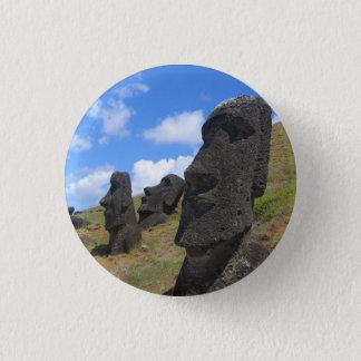 Rano Rarakuのイースター島のMoai 3.2cm 丸型バッジ
