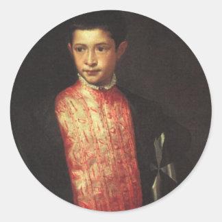 Ranuccio Farneseのポートレート ラウンドシール