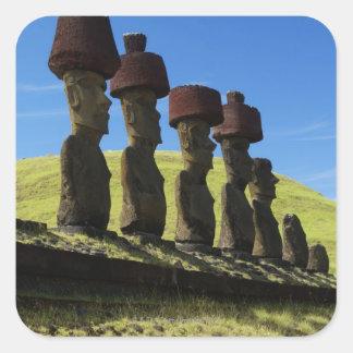 Rapa Nuiの人工物、イースター島 スクエアシール