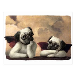 Raphaelによってインスパイアパグの天使 ポストカード
