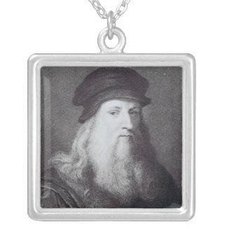 Raphaelによって刻まれるレオナルド・ダ・ヴィンチ シルバープレートネックレス