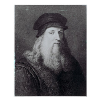 Raphaelによって刻まれるレオナルド・ダ・ヴィンチ ポスター