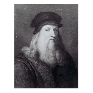 Raphaelによって刻まれるレオナルド・ダ・ヴィンチ ポストカード