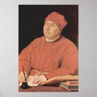 Raphaelによるトマソ「Fedra」Inghiramiのポートレート ポスター