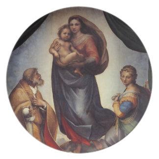 Raphaelによるマドンナのファインアート プレート