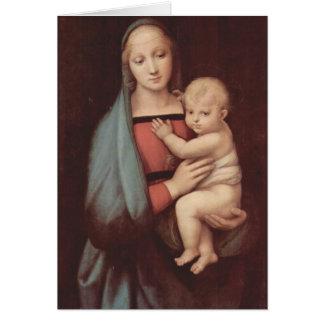 RaphaelによるマドンナDel Granduca カード