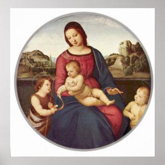 RaphaelによるマドンナTerranuova ポスター