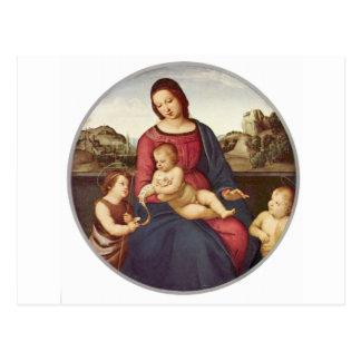 RaphaelによるマドンナTerranuova ポストカード