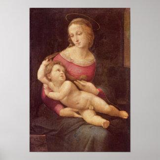 Raphaelによるヴァージン(Bridgewaterマドンナ) ポスター