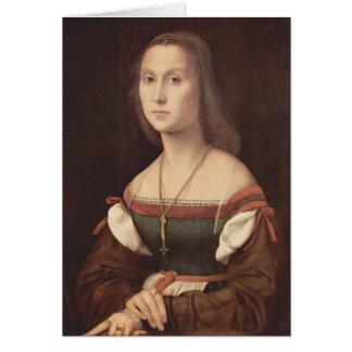 Raphaelによる女性(黙秘者)のポートレート カード