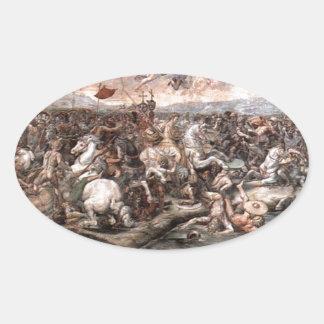Raphaelによる橋Milviusの戦い 楕円形シール