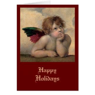 RaphaelによるSistineマドンナからの天使 カード