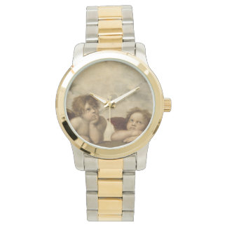 RaphaelによるSistineマドンナの天使 腕時計
