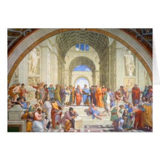 Raphaelのアテネの学校(プラトンおよびアリストテレス) カード