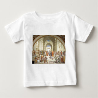 Raphaelのアテネの学校 ベビーTシャツ