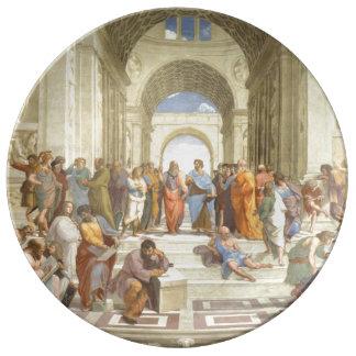 Raphaelのアテネの学校 磁器プレート