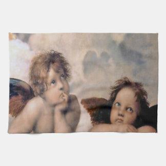 Raphaelのイタリアンな天使の天使の台所タオル キッチンタオル