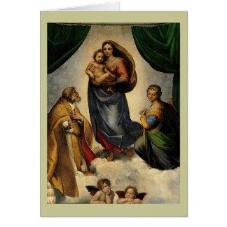"Raphaelのクラシックな""Sistineマドンナ"" (1513年頃) カード"