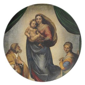 "Raphaelのクラシックな""Sistineマドンナ"" (1513年頃) プレート"