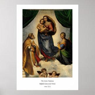 "Raphaelのクラシックな""Sistineマドンナ"" (1513年頃) ポスター"