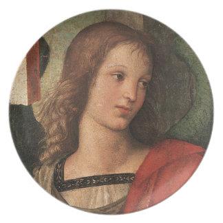 Raphaelのルネサンスのクリスマスの天使のファインアートのプレート プレート