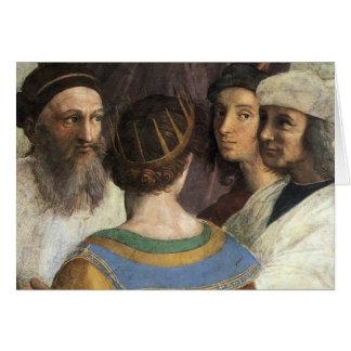 Raphaelのヴィンテージのルネサンスによるアテネの学校 カード