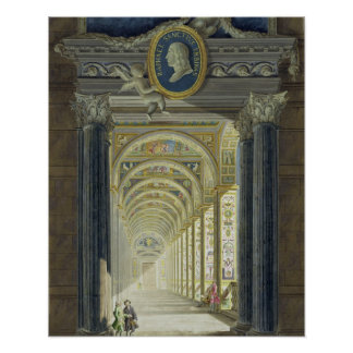 Raphaelの円形浮彫りのポートレートが付いているFrontispiece ポスター